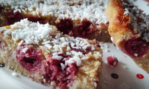Fit ciasto owsiane z wiśniami