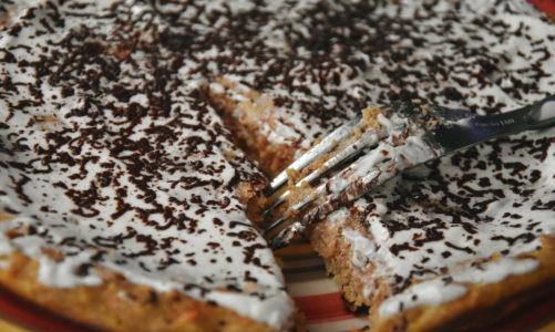 Omlet marchewkowy z czekoladą