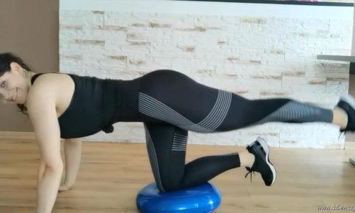 Ćwiczenia z dyskiem balansującym: brazylijskie pośladki
